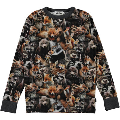 Molo shirt Forest Animals