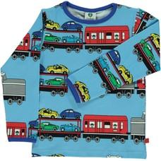 Smafolk shirt Train blue grotto