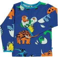 Smafolk shirt Dino blue lolite
