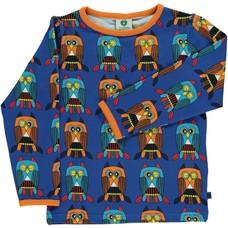 Smafolk shirt Owl blue lolite