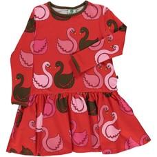 Smafolk dress Swan apple red
