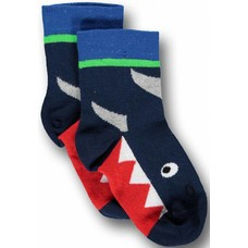 Ubang Shark navy sock