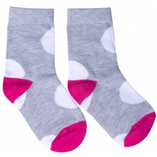 Danefae Dot sock gray / pink