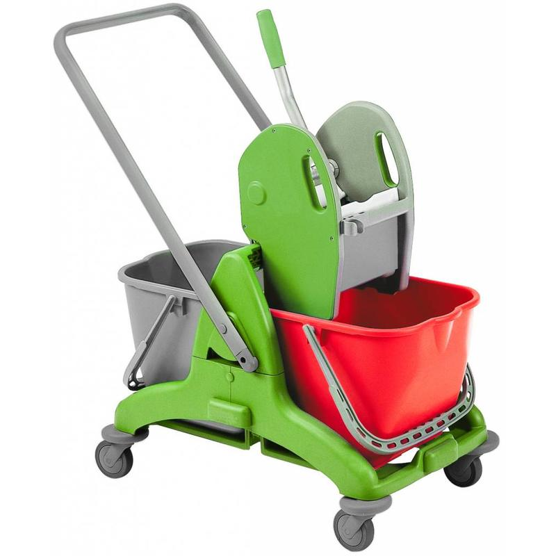 Squizzo Dubbele rolemmer 2X 25L. met pers wringer