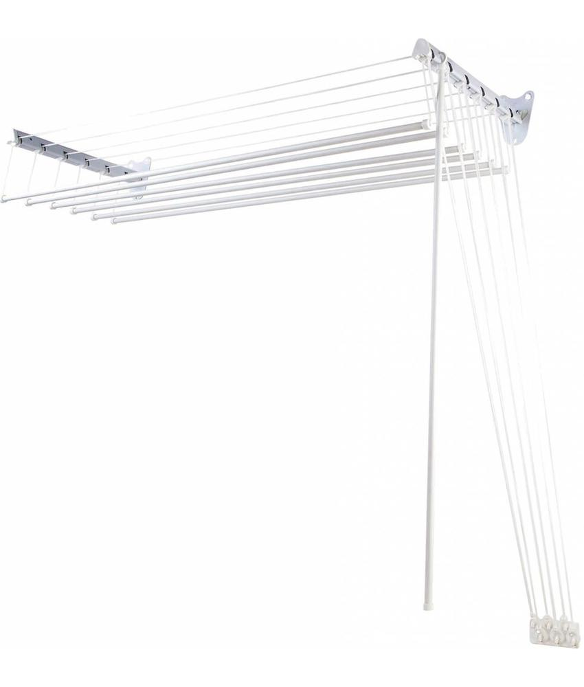 Squizzo Wand en plafond wasdroger 120 cm. met katrollen