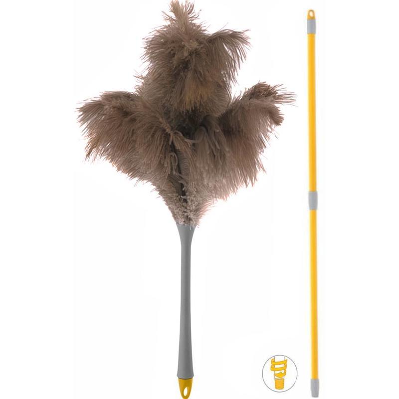 Squizzo Struisvogel Plumeau met telescoopsteel