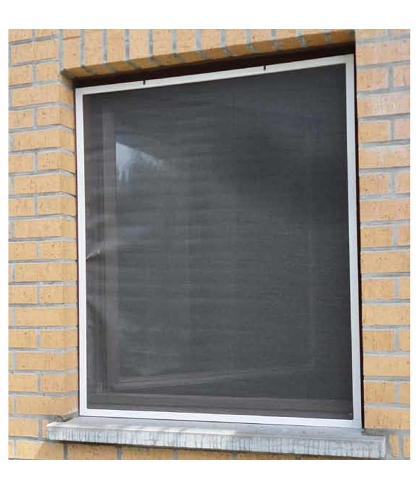 Aluminium Vliegenraam Wit 120 x 150 cm.