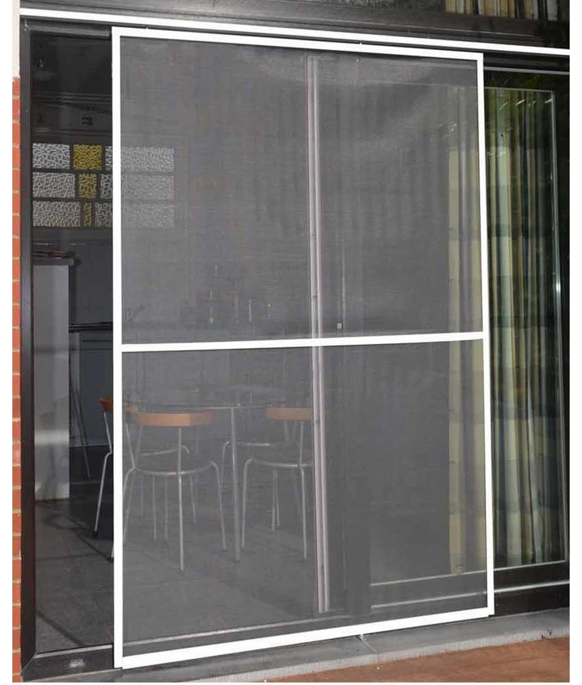 Aluminium Hordeur Veranda Wit 150 x 220 cm.