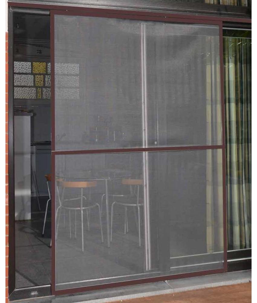 Aluminium Hordeur Veranda Bruin 150 x 220 cm.