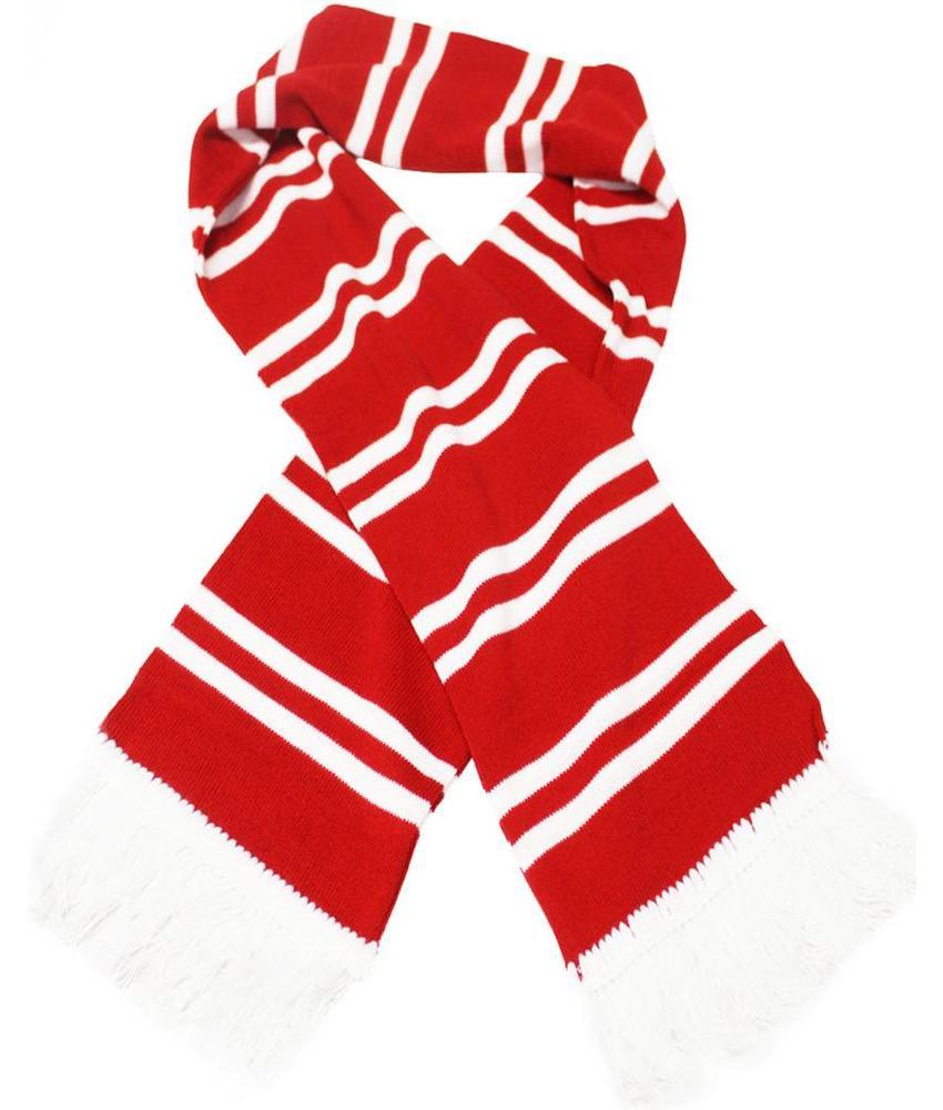 Sjaal gestreept Rood / wit