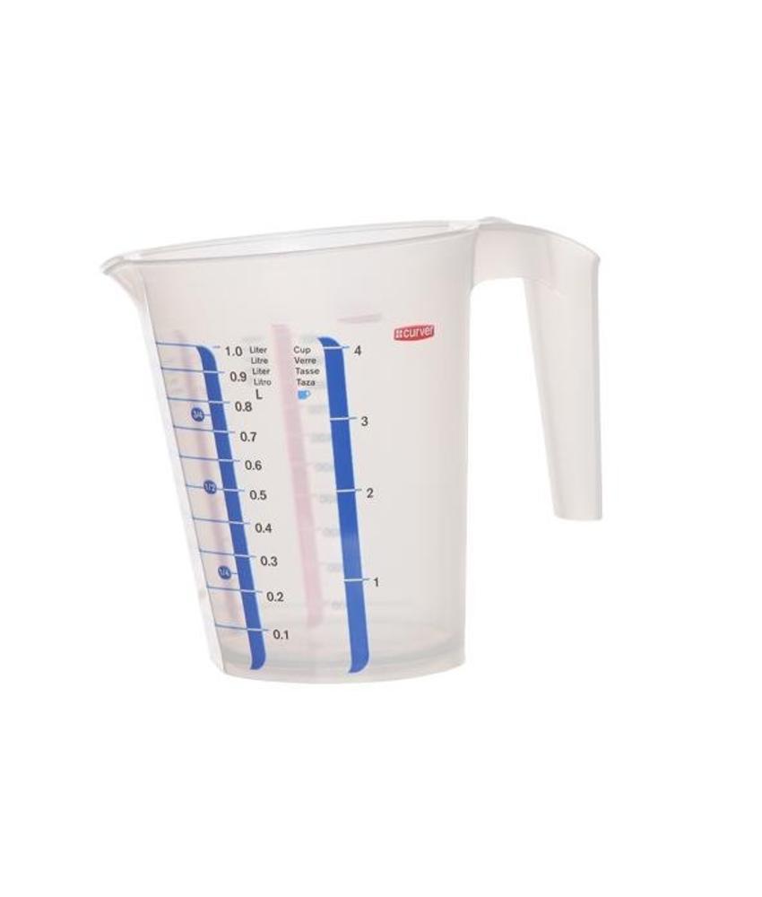 Cosy & Trendy Maatbeker transparant 1 Liter