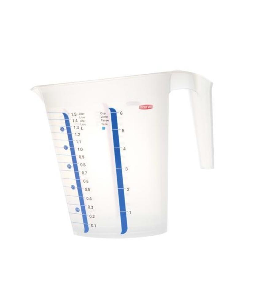 Cosy & Trendy Maatbeker transparant 1,5 Liter