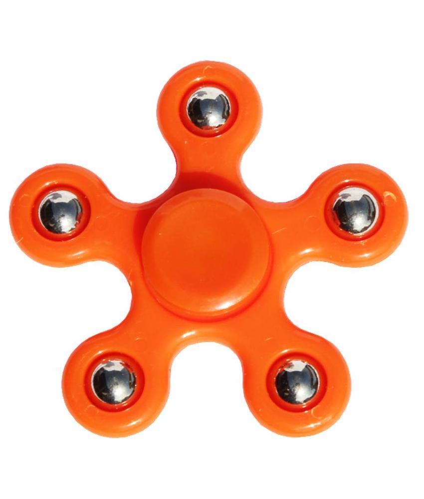 Hand spinner 5 arm kogels Orange