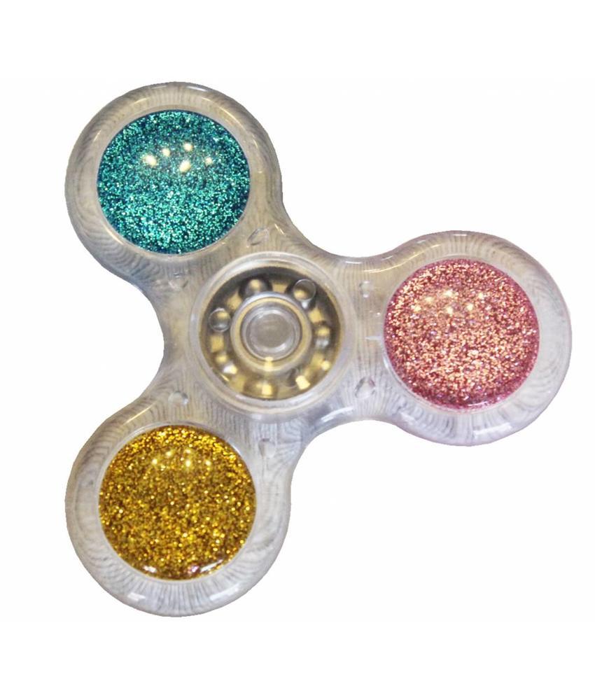 Hand spinner Basic Glitter Transparant