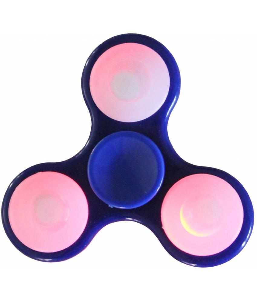 Hand spinner Led - licht Blauw
