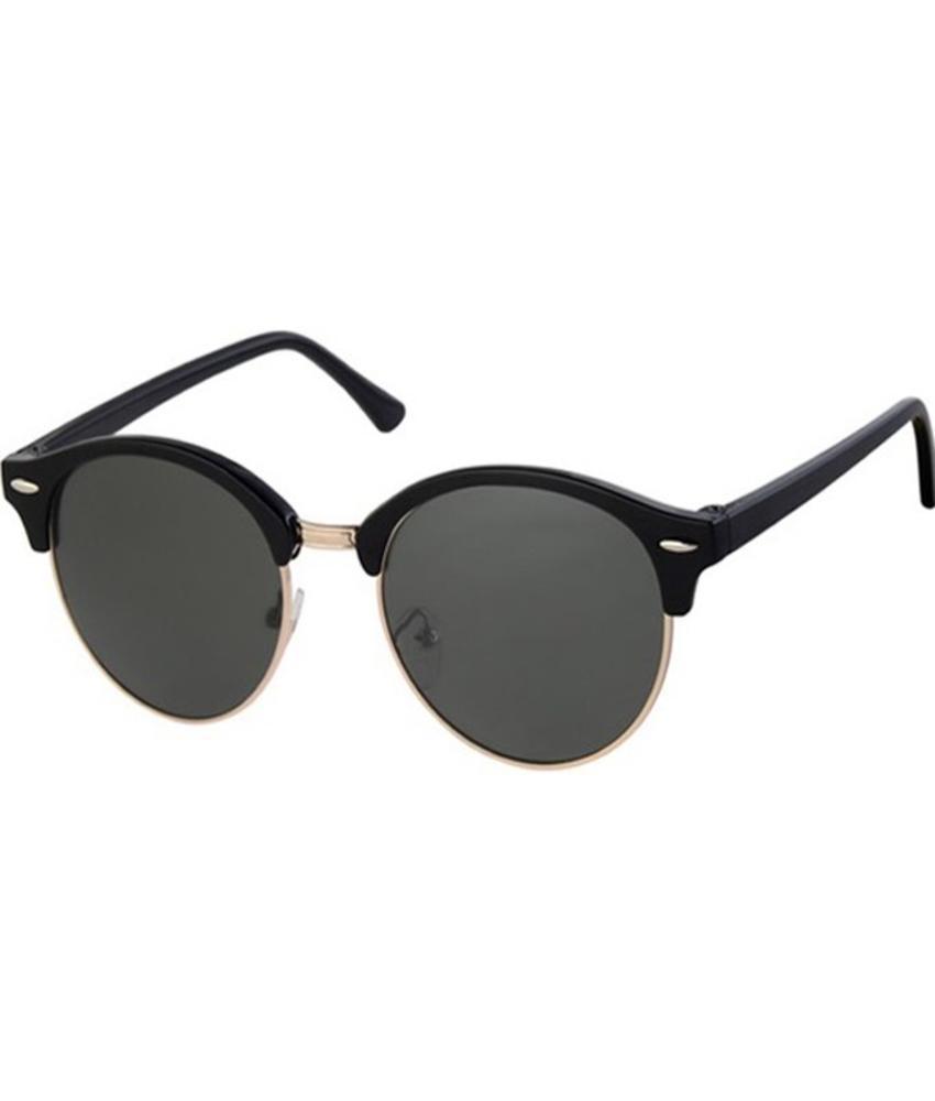 Clubmaster zonnebril black, gold rim,