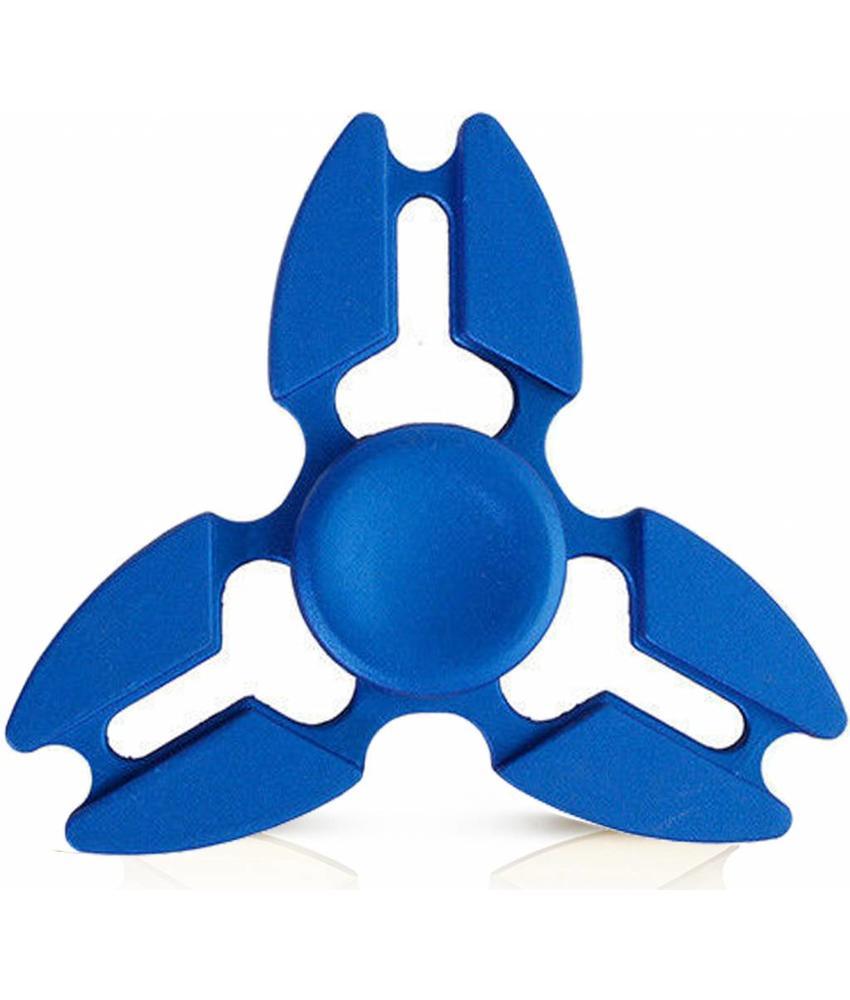 Metalen hand spinner Tri-Aluminium Blauw