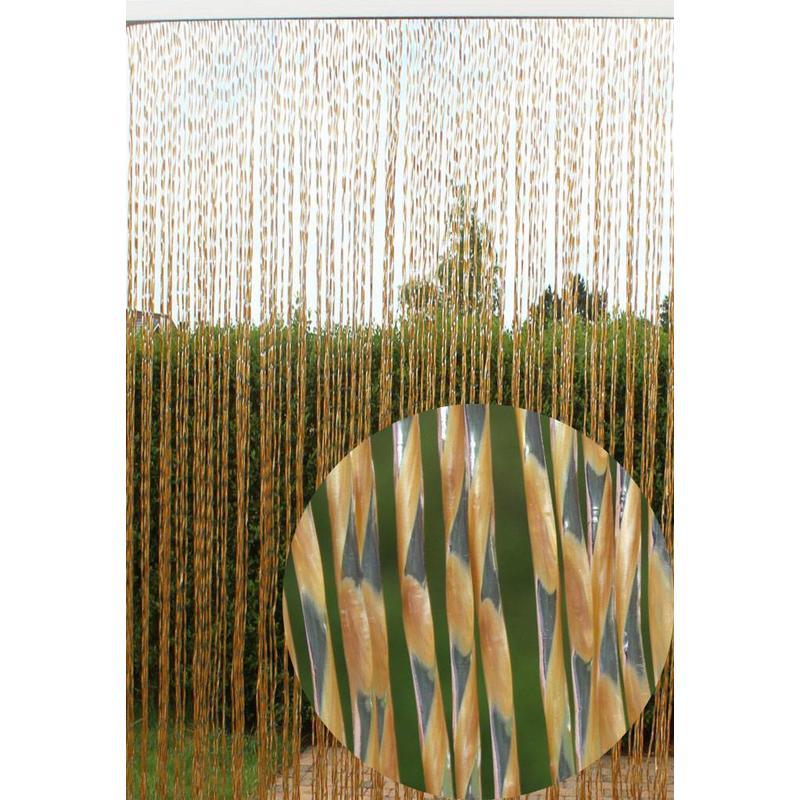 Vliegengordijn Zara 100 x 220 cm. Goud tranparant