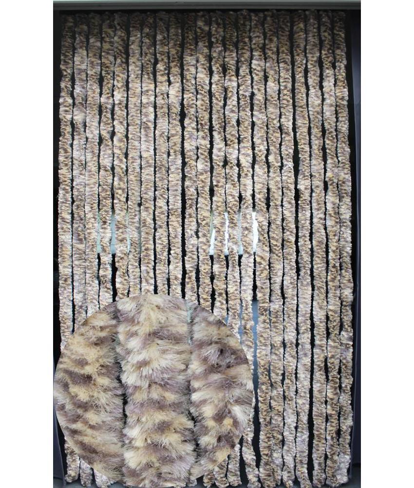 Vliegengordijn kattenstaart 90x220 cm Hazard / d. Bruin mix
