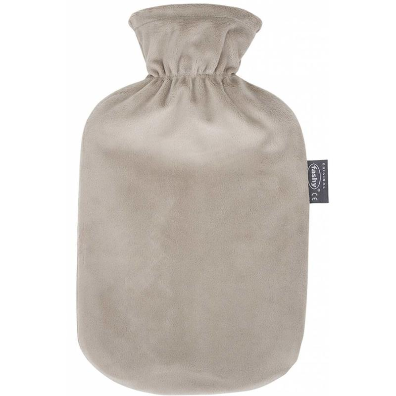 Fashy Warmwaterkruik 2 L. zachte velours taupe