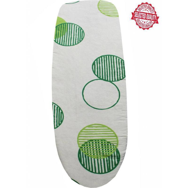 Strijkplankovertrek 140 x 50 cm beige / groen cirkels