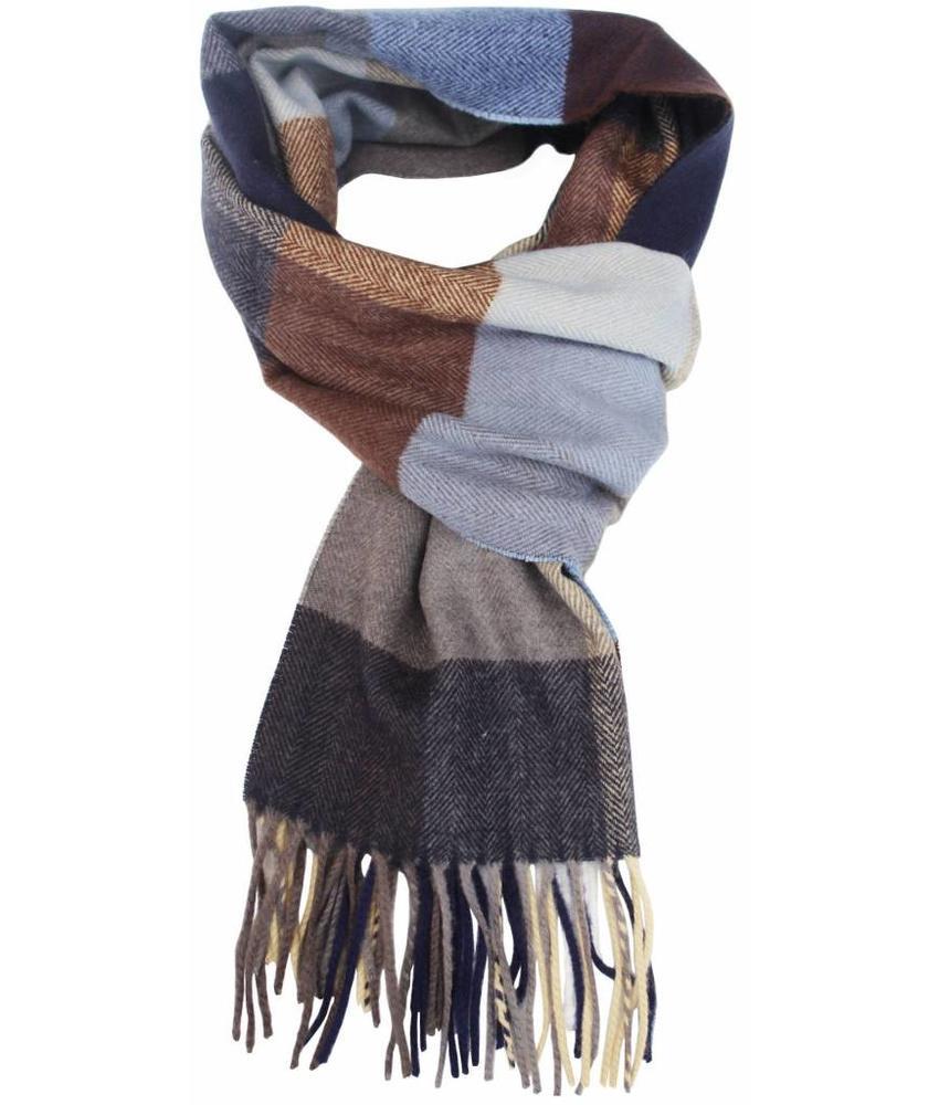 Heren Sjaal geruit Blue