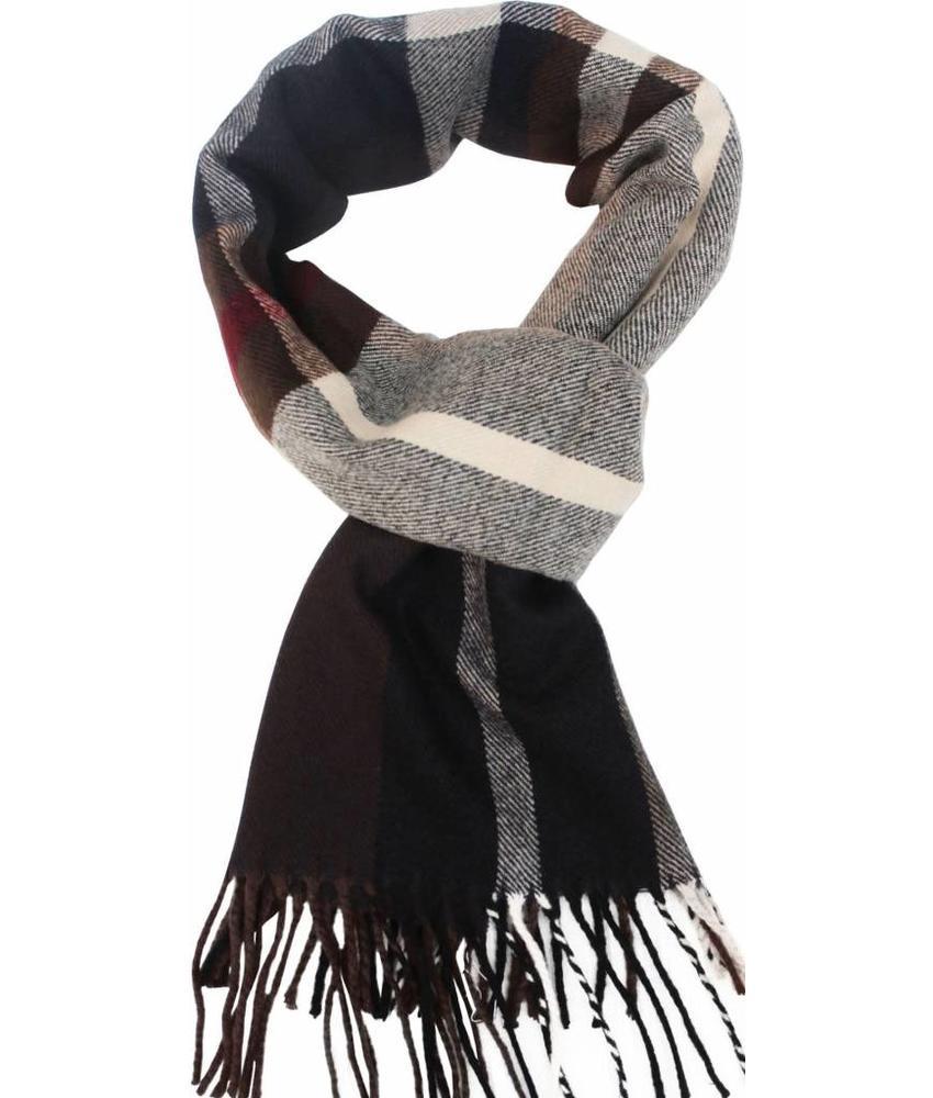 Geruite heren sjaal Brown