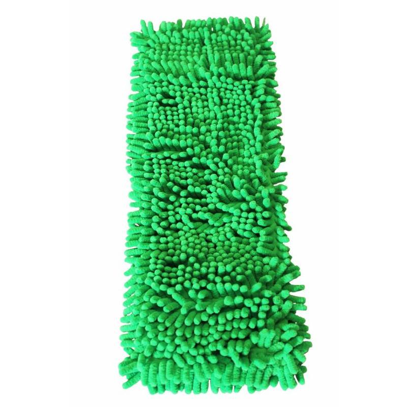 Vloermop Doek Fluffy Microvezel 45 cm. Groen
