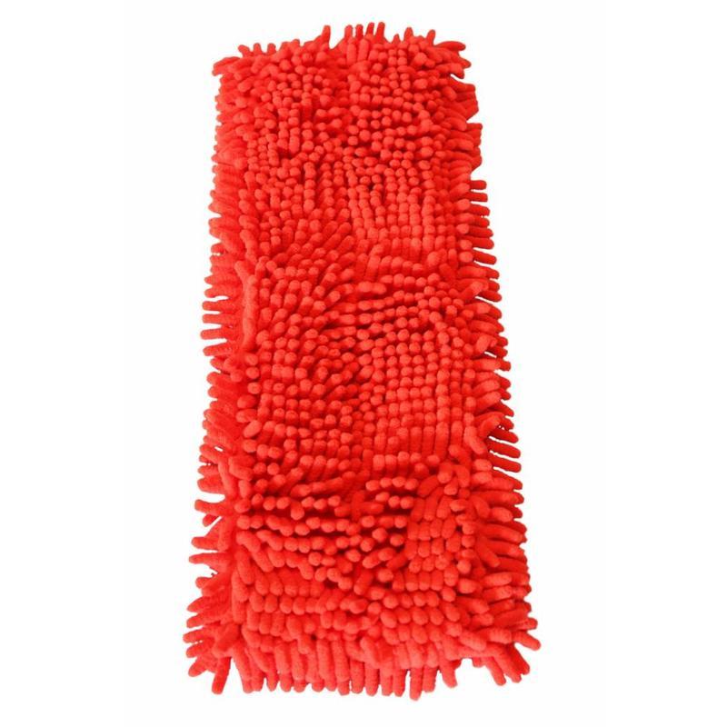 Vloermop Doek Fluffy Microvezel 45 cm. Rood
