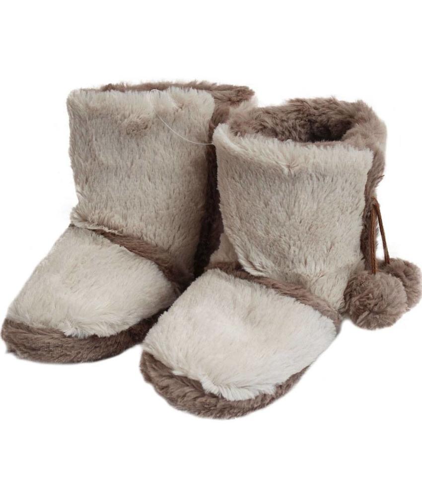 Pantoffels met Pels beige Kinderen