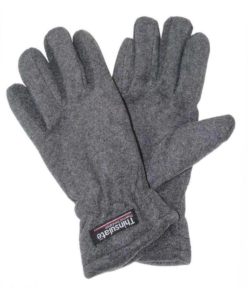 Fleece handschoenen Heren Grijs