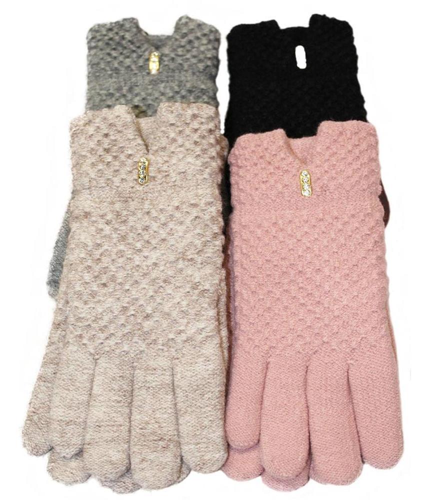 Dames Handschoenen met pels Glitterstone