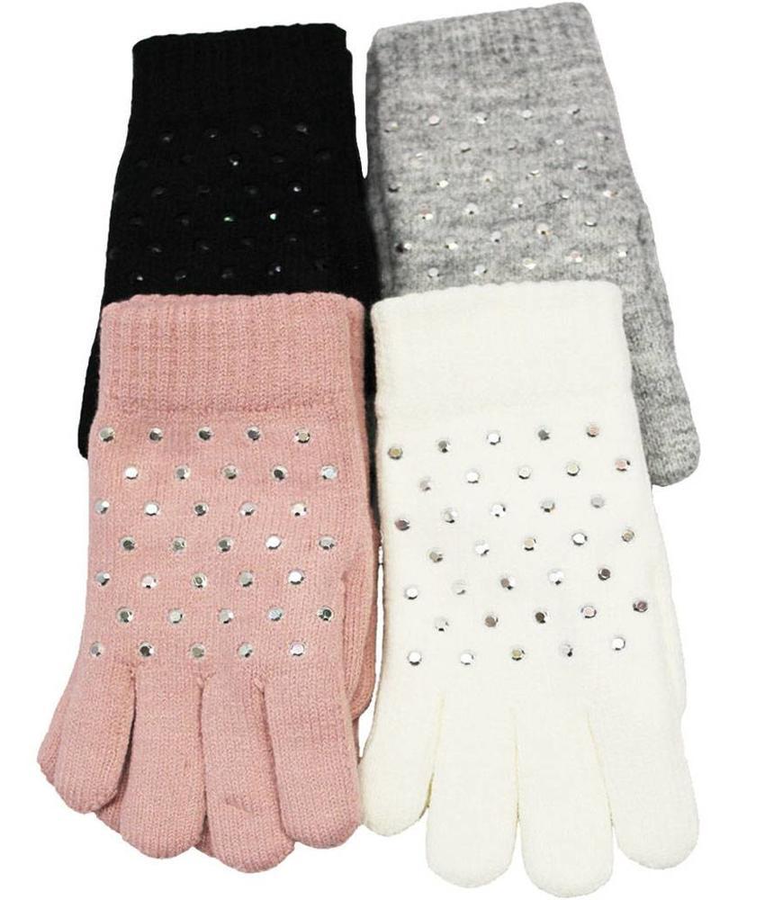 Dames Handschoenen pels with studs