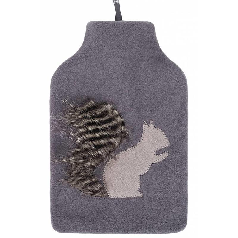 Fashy Warmwaterkruik 2 L. fleece hoes eekhoorn