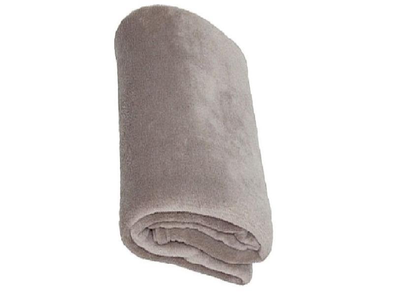 Fleece deken Coral 130x170 cm warm Grijs