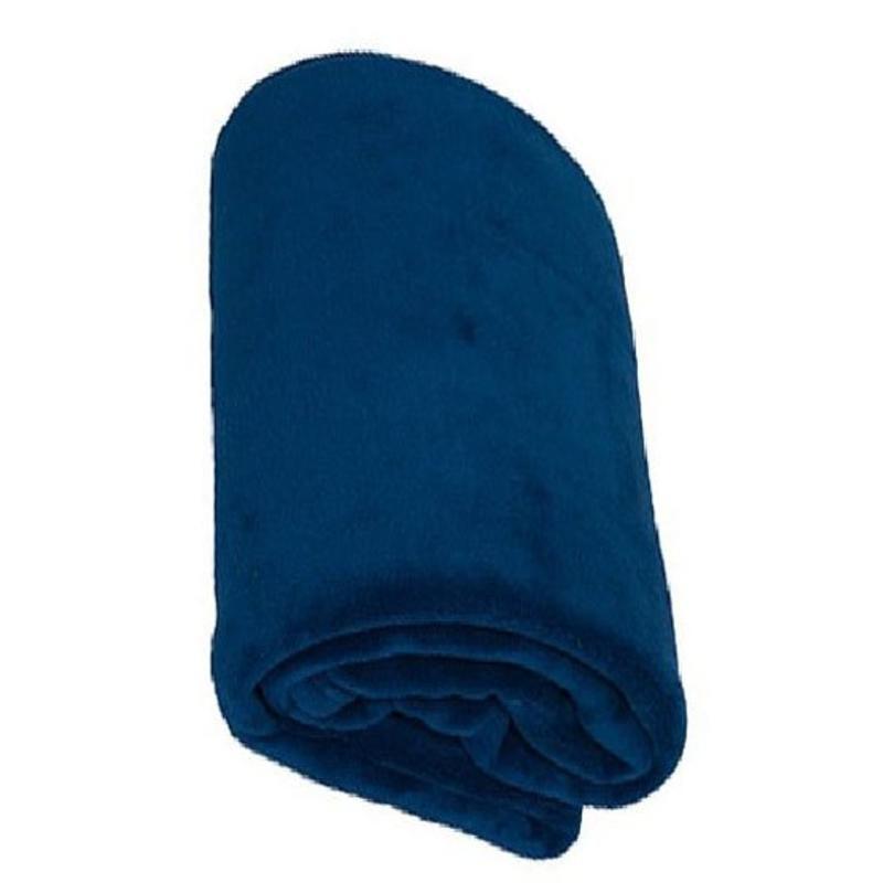 Fleece deken Coral 130x170 cm Navy Blauw