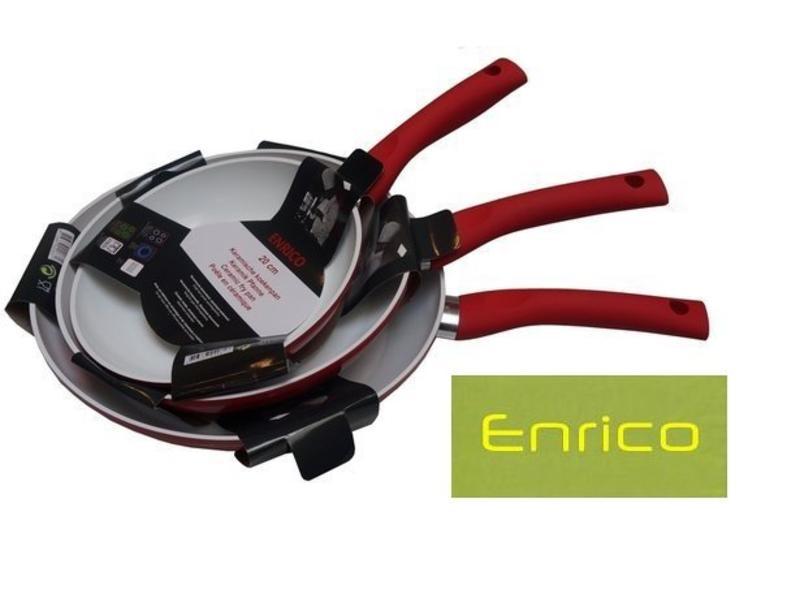 Enrico 3 delige pannenset rood