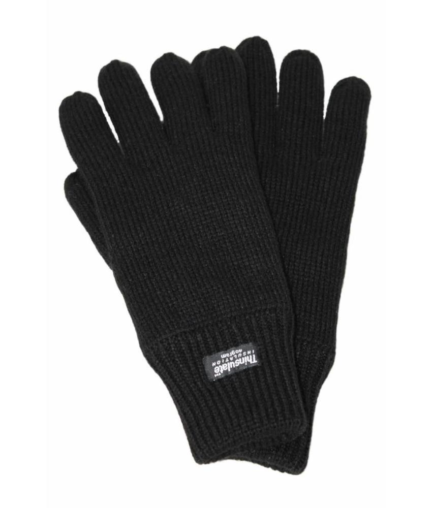 Gebreide Dames Handschoenen Thinsulate Zwart