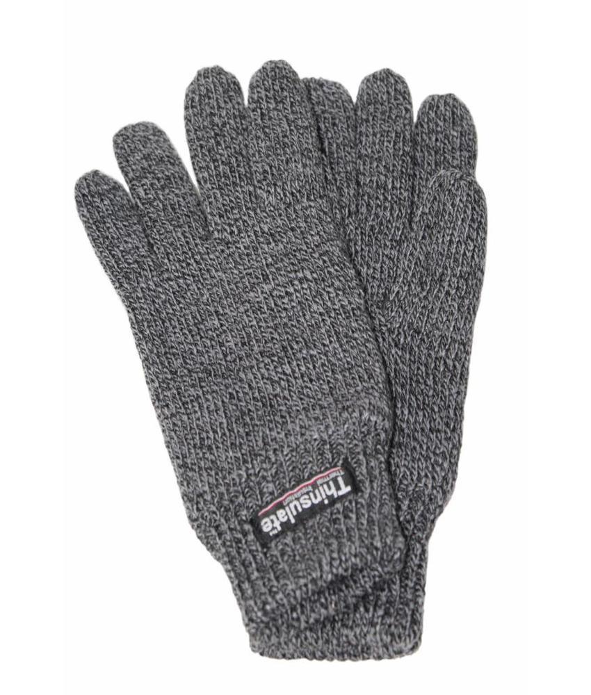 Gebreide Dames Handschoenen Thinsulate Grijs gespikkeld