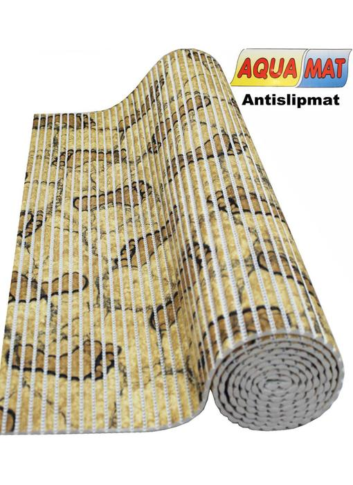 Aquamat antislipmat Beige / voetjes motief 0,65 x 2 meter