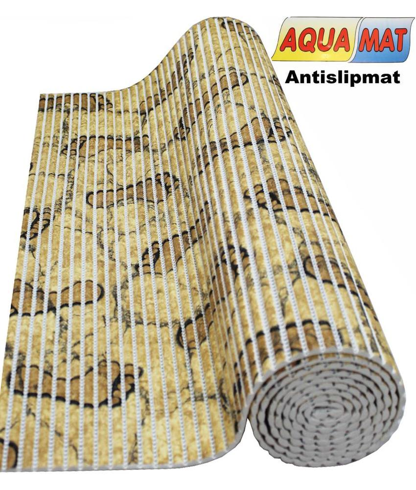 Aquamat antislipmat Beige / voetjes motief 0,65 x 0,50  meter