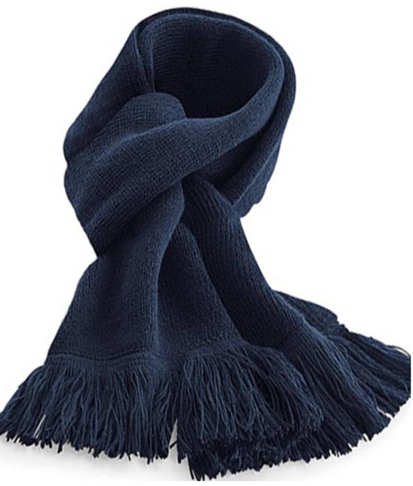 Gebreide Sjaal Classic met frengels