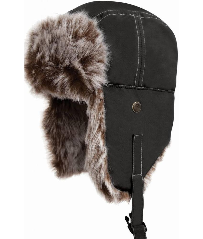 Classic Sherpa Hat met bontvoering Black