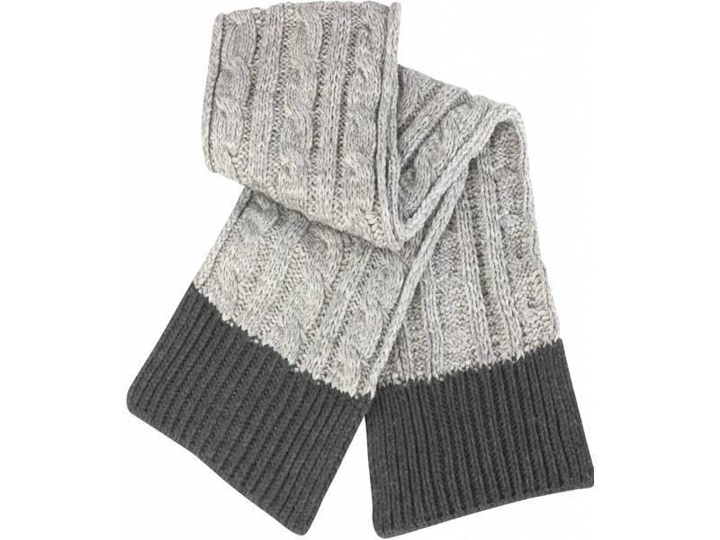 grof gebreide sjaal grijs - megatip.be