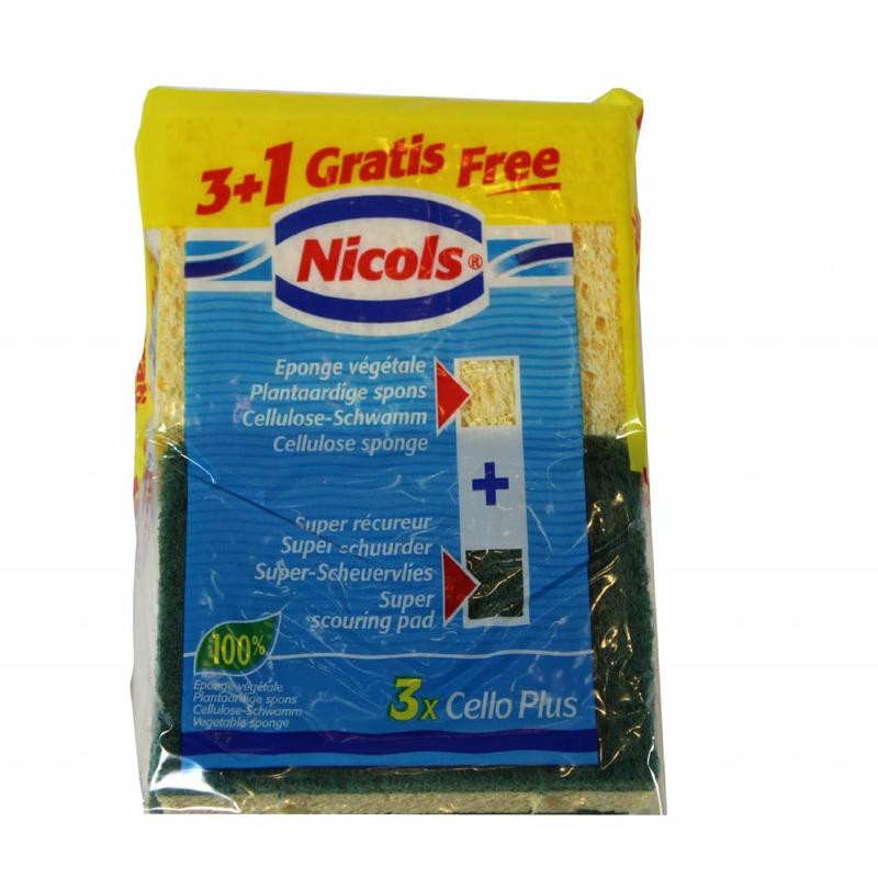 Nicols Plantaardige schuurspons