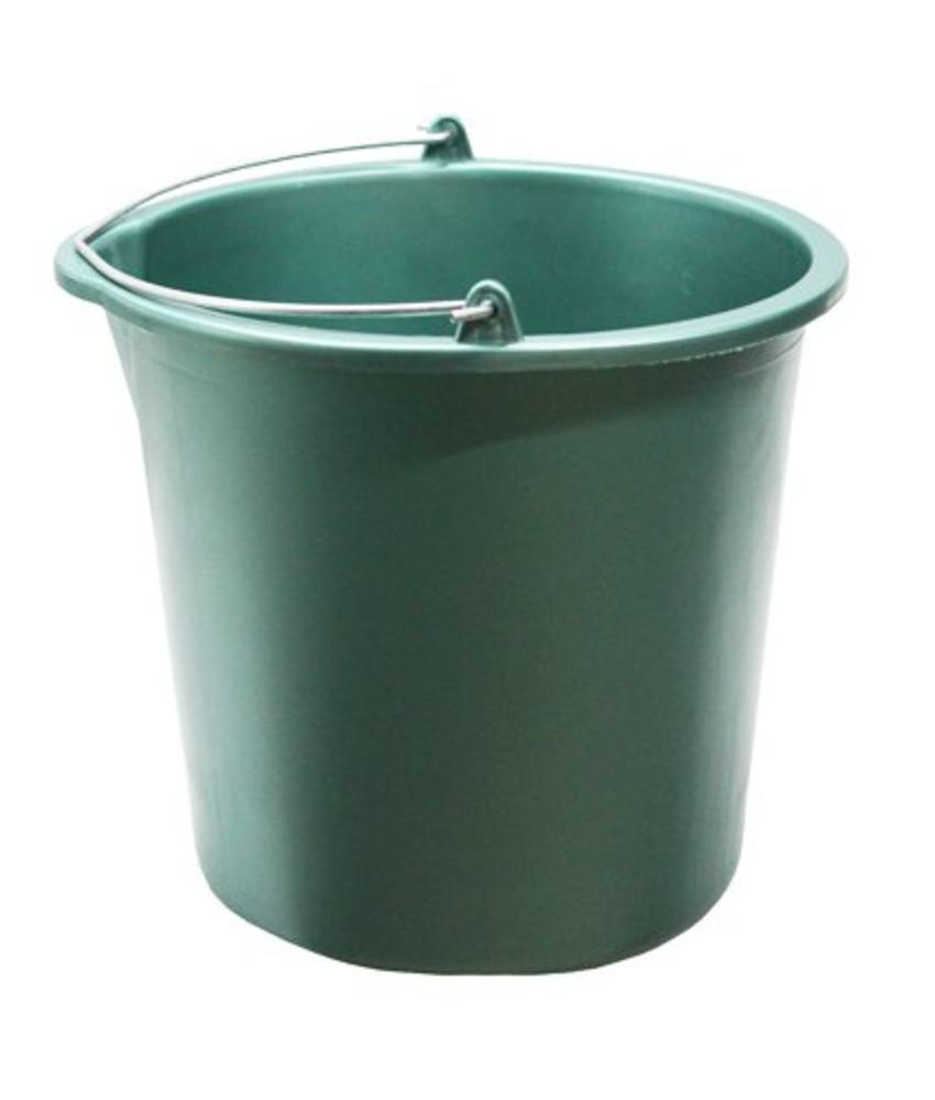 Huishoudemmer 12 liter  metallic groen