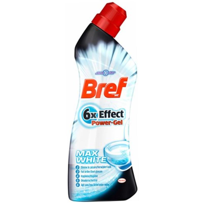 Bref WC reiniger 6x effect max  white  750ml