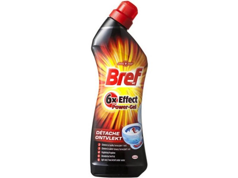 Bref WC reiniger 6x effect  Power-Gel Ontvlekt  750ml
