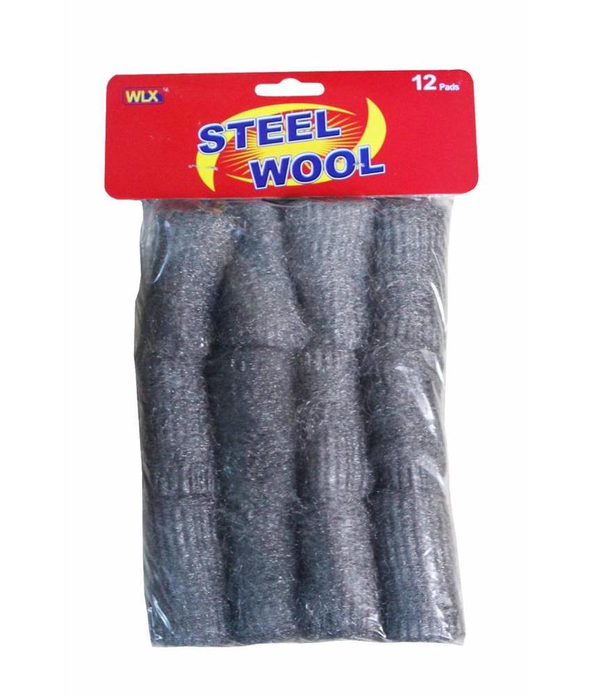 Staalwol spons 12 stuks