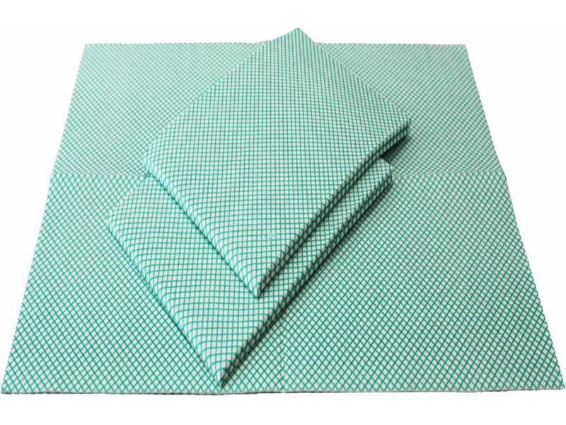 Dweil Viscose Groen  geruit 50x70cm  ( 3 st.)  extra hygiëne